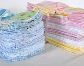 Reusable Cloth Baby Wipes - 1 Dozen.