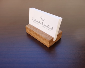 Business card stand etsy wood business card holder wooden card holder oak wood business card stand wood colourmoves