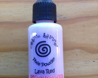 Cosmic Shimmer - Pixie Powder - Lava Red - Creative Expressions - 30ml