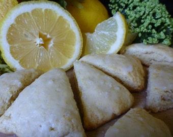 Lemon Mini Scones One Dozen Homemade  made to order scone