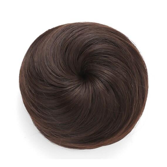 Synthetic Clip In Hair Bun Extension Donut Chignon Hairpiece