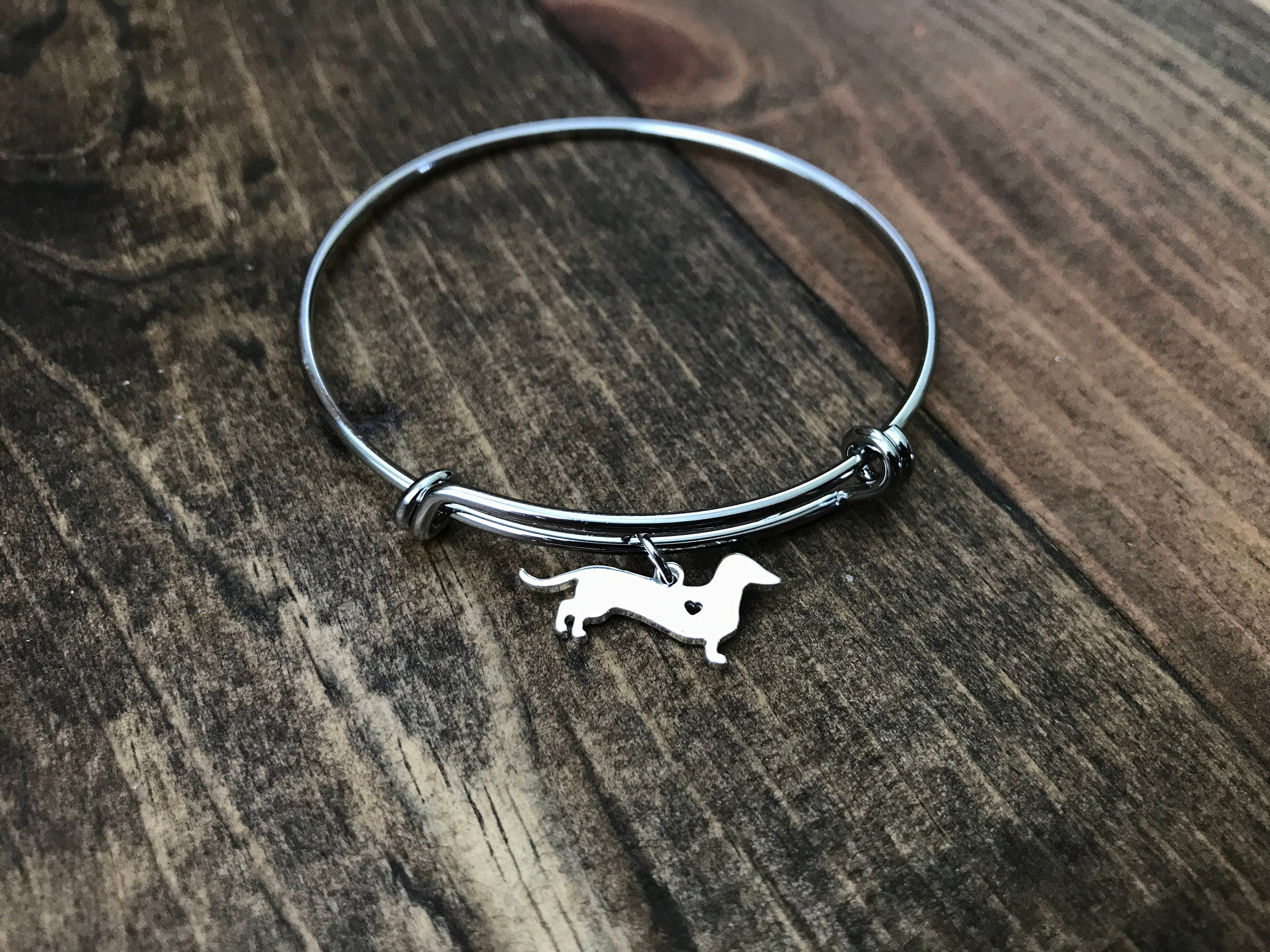 for animal her lover dog ani bangle hand personalized alex silver stamped inspired and bangles gift bracelet name charm mom