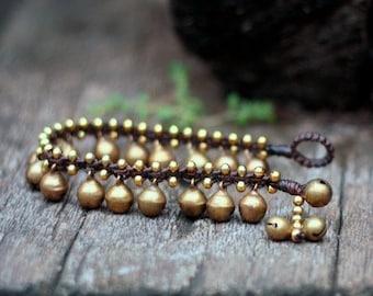 Brass Bell Kid Bracelet