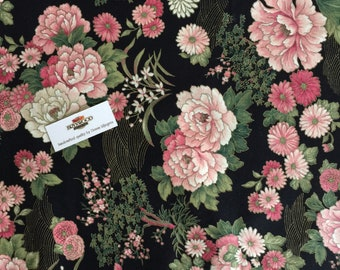 Cranston Print Works Co Floral, VIP Floral Print, Oriental Floral Fabric, Oriental Peony Fabric