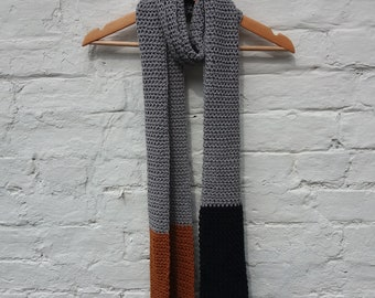 Pure Cotton Scarf - Grey, Toffee, Black - Ready to Ship