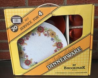 "New in box- Brookpark ""Promenade"" Melamine/Melmac Dinnerware Set"