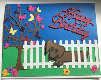 Birthday Dachsie card