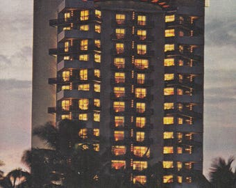 Ft. Lauderdale, Florida Vintage Postcard - Pier 66 Hotel, Intra-Coastal Waterway, Luxury Florida Hotel