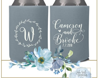 Wedding Menu Holders | Can Cooler Wedding Favor | Custom Can Coolers | Wedding Can Holders | FREE Shipping