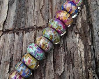 Lampwork Frit Glass Beads Set