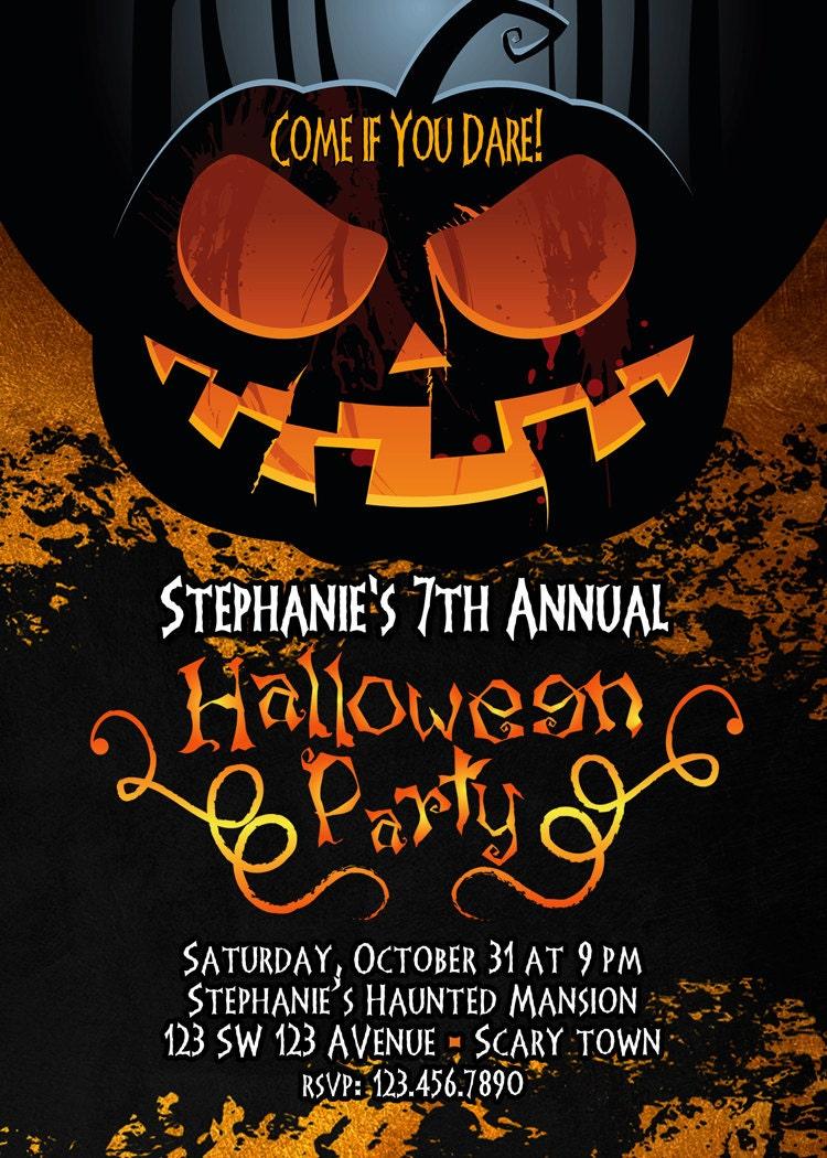 Halloween Invitation Adult Halloween Invitation Halloween