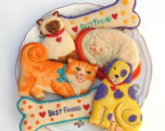 Pet Lovers Gift Mothers Day Gift Birthday Gift Cat Cookies Dog Lover Gift Cat Lover Gift Cookie Gift Edible Gift Cookie Favor Baked Goods