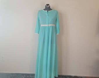 Vintage 1960's Long Blue Robe