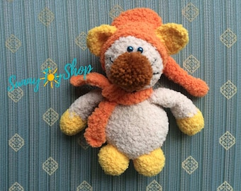 Cat is plush, cat with amiguras, toy crochet, gift to the child, autumn gift, birthday gift, baby room decoration, original gift, soft toy