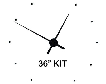 """Wall Clock KIT36 to make your own 36"""" wall clock includes tapered hands"""