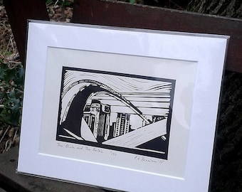 The Blink and the Baltic - limited edition lino print
