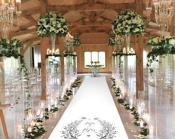 White Bridal Runner - Two Flying Swallows - Bridestobeonline.com