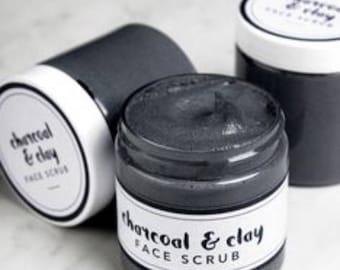 Activated Charcoal & Bentonite Clay Salt Scrub 8 oz