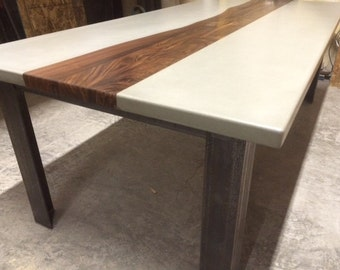 concrete and wood furniture. Custom Concrete Wood And Metal Tables Furniture