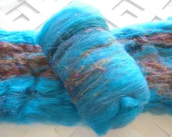 DAYDREAM Art Batts, Spinning Batt, Felting Batt, Merino Wool, Bamboo, Pulled Silk, Silky Batt, Smooth Batt, Hat Knitting Pattern, Spinning