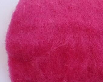Merino Wool Roving - Rose - 1 oz