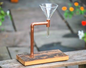 Coffee Pour Over - Barnwood Single, Reclaimed Wood