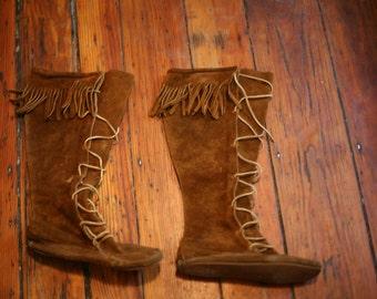 vintage moccasin boots — 6, 6.5 -- SALE!
