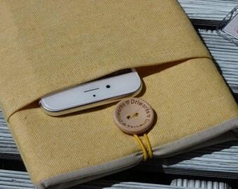 ipad mini cover, ipad mini sleeve, ipad mini 4 case, ipad mini case,  Yellow ipad mini case with pocket