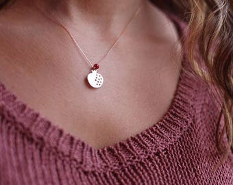 14K Gold Pomegranate Necklace Available in 14k Gold, White Gold or Rose Gold