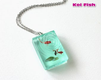 Koi Fish Necklace / Goldfish Necklace