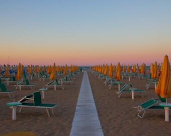 Beach Photo, Blank Greeting Card, Italy Card, Birthday Card, Handmade Photo Card, Italy Greeting Card, Thank You Note, Gray Malin Inspired