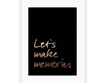 Let's Make Memories Poster