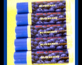 Blueberry Lip Balm - Lip Gloss - All Natural - Lightly Tinted - Free U.S. Shipping