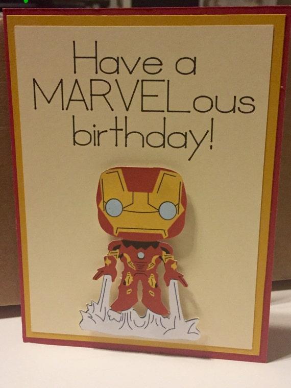 Disney marvel iron man homemade birthday card bookmarktalkfo Images