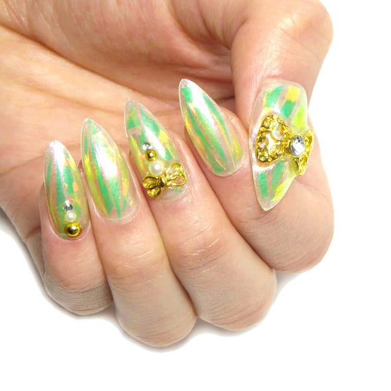 Fairy Jewelry Nails Fake nails glue on nails press on