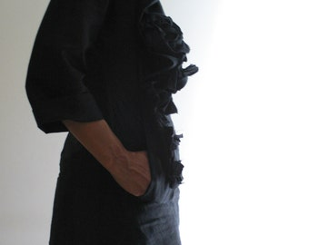 Freeform Linen Blouse by NervousWardrobe on Etsy