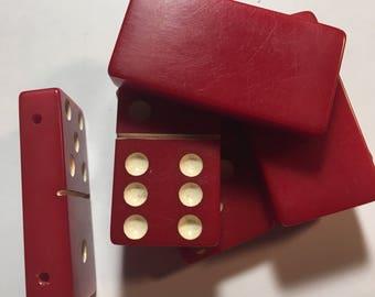 Six Pre Drilled vintage bakelite dominos  for a a bracelet