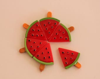 Watermelon red and green cabochon scrapbooking