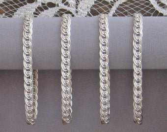 Sterling Silver Double Link Lace Chain Bracelet (4) - The Perfect Bridesmaids Gift!