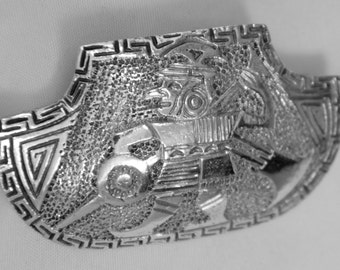 Antique Early Sterling Brooch signed 1910's C clasp