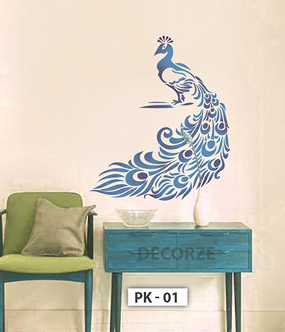 Peacock Stencil For Wall Customize Designs Crafts Art Painting