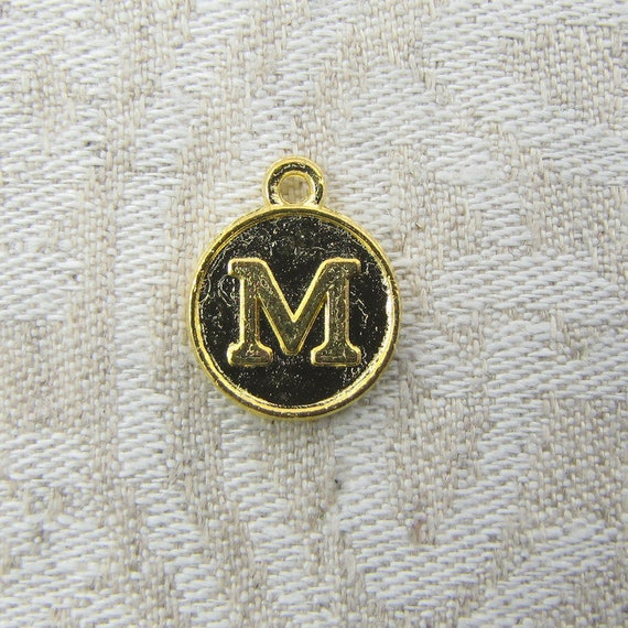 1 or 5 initial charm charm bracelet letter charm medallion 1 or 5 initial charm charm bracelet letter charm medallion letter medallion pendant initial pendant alphabet charm alf012m gl from briargatecharms mozeypictures Images