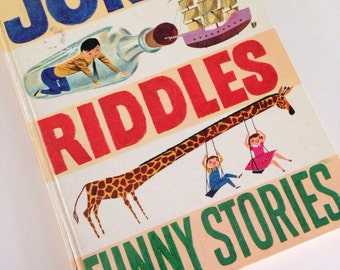 1959 Jokes, Riddles, Funny Stories by Oscar Weigle illustrated by Crosby Newell