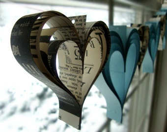 Breakfast at Tiffanys love paperie  a garland of hand cut hearts