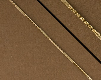 10feet, Gold Filled Chain. 14kt Goldfilled Link Chain by the Foot. Bar & Cable Chain. #1525F/62