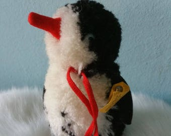 Cute wool STEIFF penguin! Collectible vintage 1965-1967 pom pom penguin