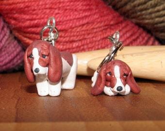 Bassett Hound Stitch Markers (set of 4)