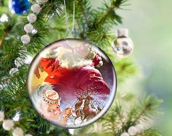 Coca Cola Christmas Tree Ornament, 2.25 Inch, Unbreakable, Metal