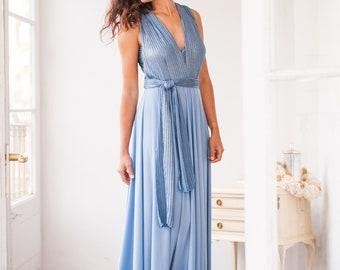 Bridesmaid dress light blue, Bridesmaid multiway dress light blue, Placid blue bridesmaid dress, Bridesmaid dress blue long, Infinity dress