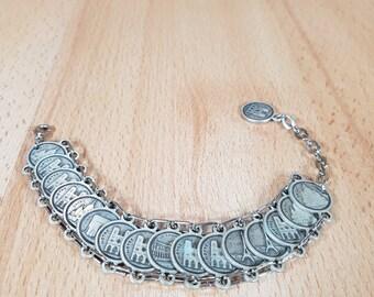 Bracelet  - Jewellery - Vintage bracelet - French bracelet - Vintage jewellery - Souvenir bracelet.